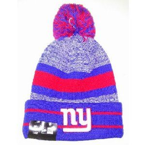 NEW YORK GIANT ROYAL BLUE STRIPED CUFF KNIT HAT